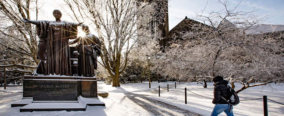 Alma Mater in winter